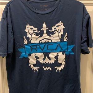 Blue RVCA shirt